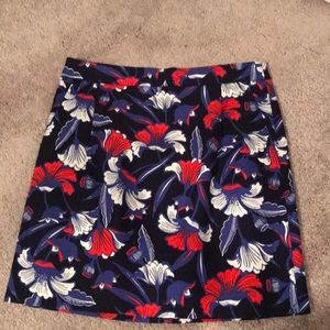 Jcrew floral mini skirt